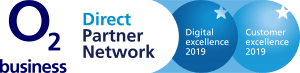O2 Business Direct Partner Network 2019 Award Logo