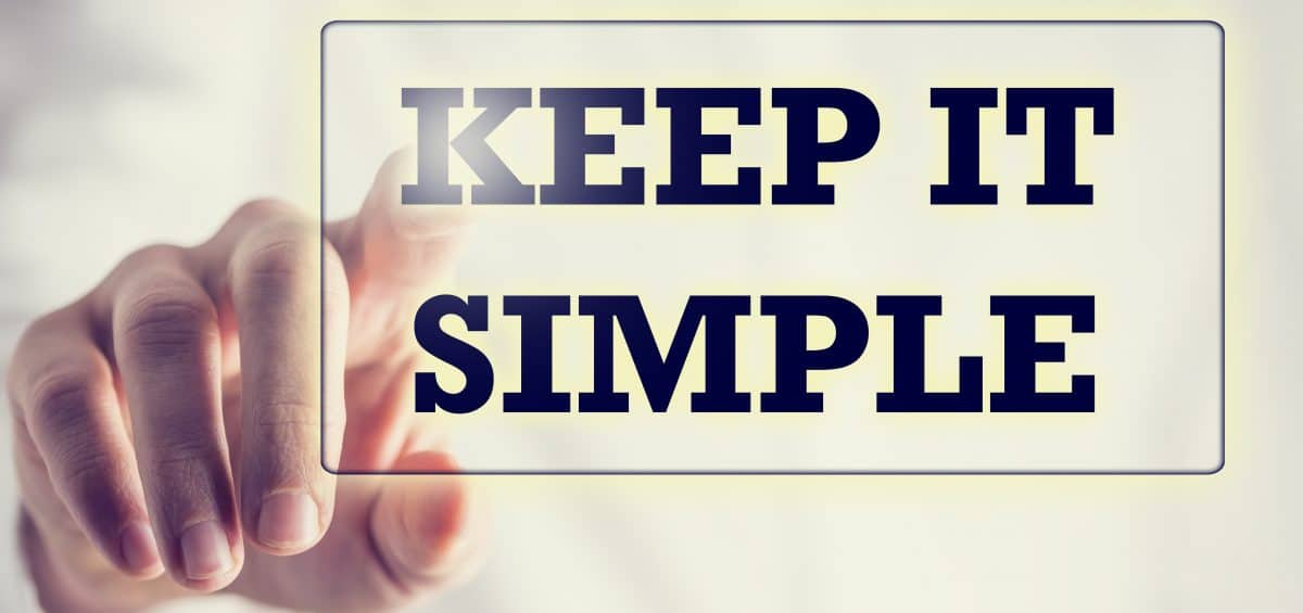 keep it simple business graphic